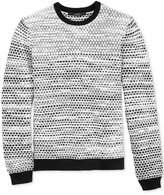 GUESS Men's Two-Tone Geo Sweater