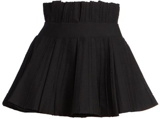 Balmain Pleated Paperbag Mini Skirt