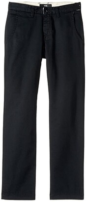 Vans Kids Authentic Chino Stretch Pants (Little Kids/Big Kids) (Black) Boy's Casual Pants