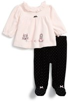 Little Me Infant Girl's Princess Velour Top & Pants Set