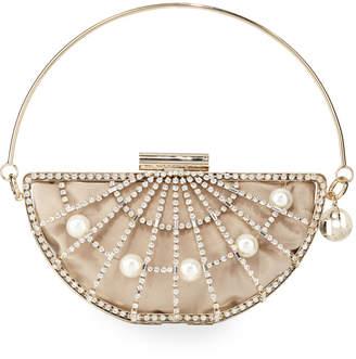 Rosantica Half Moon Pearly Cage Clutch Bag