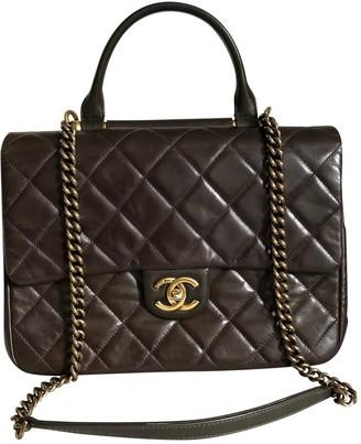 Chanel Coco Handle Brown Leather Handbags