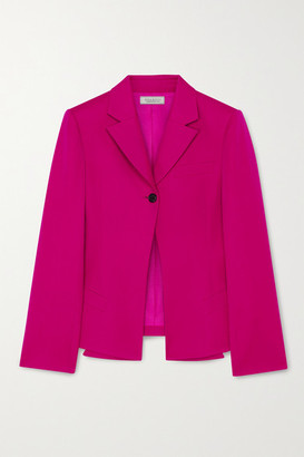 Nina Ricci Wool-gabardine Blazer - Fuchsia