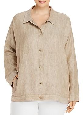 Eileen Fisher, Plus Size Organic Linen Jacket