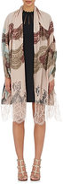 Valentino Women's Lace-Appliquéd Voile Shawl