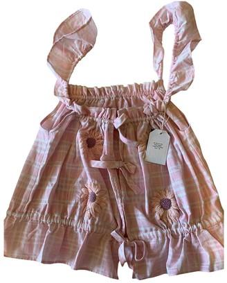 Innika Choo Pink Linen Tops