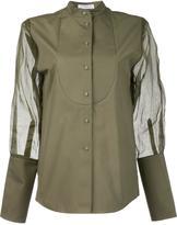 J.W.Anderson sheer sleeve tuxedo shirt