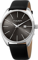 Akribos XXIV Mens Black Strap Watch-A-945ssbk