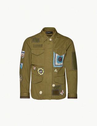 Amiri Embroidered canvas jacket