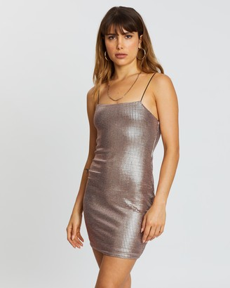 Topshop Holographic Body-Con Mini Dress