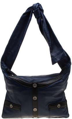 Chanel Blue/Black Leather Girl Shoulder Bag