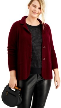 Charter Club Plus Size Cashmere Blazer, Created for Macy's