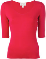 Armani Collezioni scoop neck top - women - viscose/Spandex/Elastane - 40