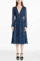 Derek Lam V-Neck Python Printed Dress