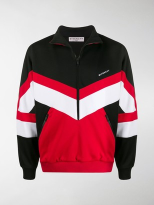 Givenchy Colour-Block Zip-Up Sweatshirt