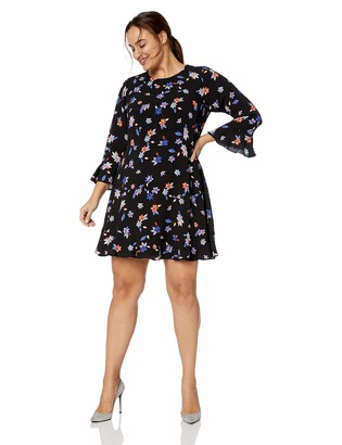 Eliza J Women's Size Floral Print A-Line Dress