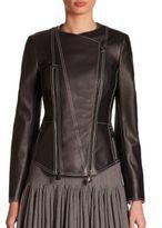 Akris Hamac Leather Jacket