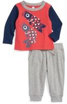 Tea Collection Tako T-Shirt & Sweatpants Set (Baby Boys)