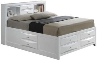 Winston Porter Towslee Storage Platform Bed Size: King, Color: Black