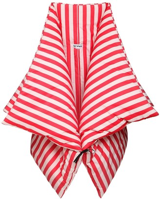 Sunnei Striped Cotton Kimono Down Jacket