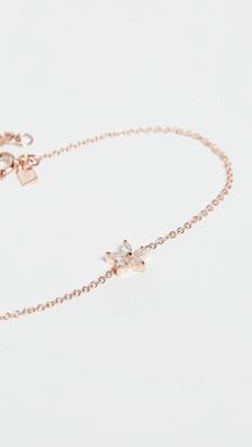 Ef Collection 14k Marquise Diamond Flower Chain Bracelet