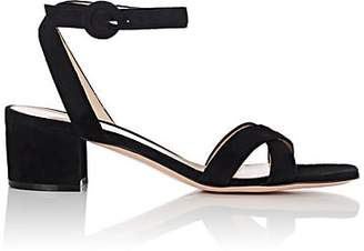 Gianvito Rossi Women's Suede Ankle-Strap Sandals - Black