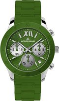 Jacques Lemans Women's 1-1587N Rome Sports Sport Analog Chronograph with Silicone Strap Watch