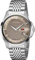 Gucci Men's YA126310 G-Timeless Slim Case Brown Watch