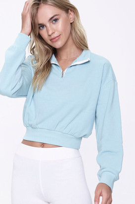 Forever 21 French Terry Half-Zip Pullover