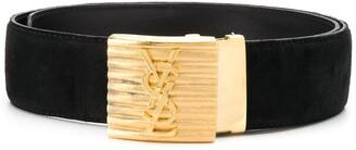 Saint Laurent Pre-Owned logo buckle belt