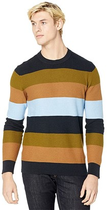 Scotch /& Soda Striped Crewneck Pull In Structured Knit Camiseta sin Mangas para Hombre