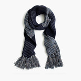 J.Crew Italian wool-blend striped scarf