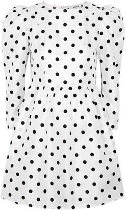 Batsheva Monochrome polka-dot mini dress