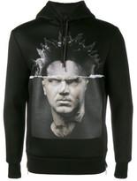 Neil Barrett modernist blocking hooded sweatshirt