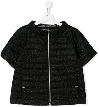 Herno Quilted Embellished Jacket