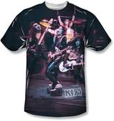 SIK Kiss Hard Rock Band Rock N' Roll Music Live in Concert Big Boys Front Print Tee