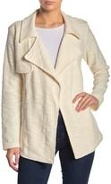Daniel Rainn Dr2 By Drape Front Boucle Knit Jacket