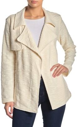 Dr2 By Daniel Rainn Drape Front Boucle Knit Jacket