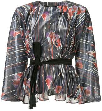Muller of Yoshio Kubo Kielyr tie waist printed blouse