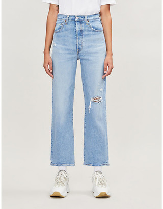 Levi's Ribcage straight high-rise jeans