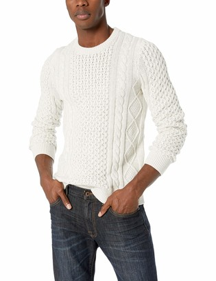 Lucky Brand Men's Iconic Cable Crew Neck Sweater