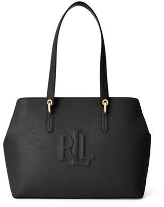 Lauren Ralph Lauren Highfield Leather Logo Tote Bag
