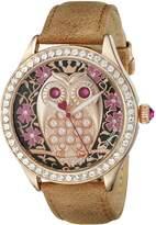 Betsey Johnson Women's BJ00517-05 Analog Display Quartz Brown Watch