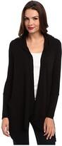 Splendid Thermal Flight Cardigan Hoodie (Black) Women's Coat