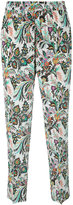 Etro printed cropped trousers - women - Silk - 40