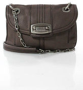 B. Makowsky Pink Taupe Silver Tone Foldover Small Crossbody Bag