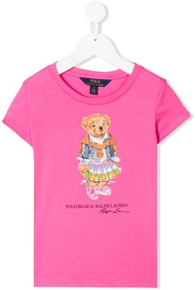 Ralph Lauren Kids Polo Bear logo-print T-shirt