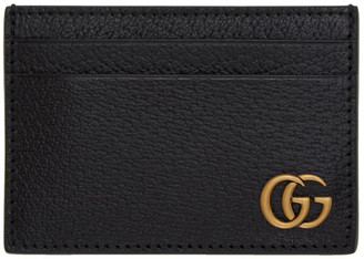 Gucci Black GG Marmont Money Clip Card Holder