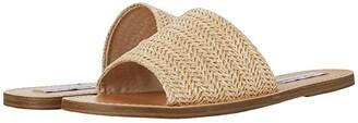 Steve Madden Grace Slide Sandal (Natural Raffia) Women's Shoes