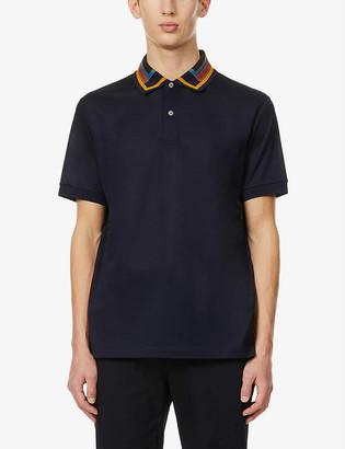 Paul Smith Stripe-detail cotton-pique polo shirt